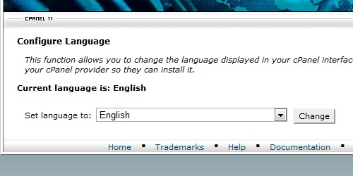 Select the language you want to use.