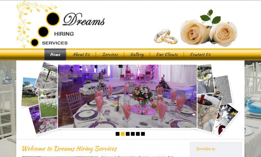Dreams hiring services web design