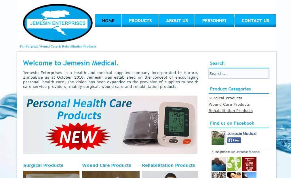 Jemesin web design