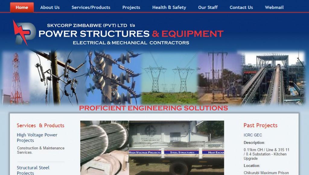 Power Structures web design
