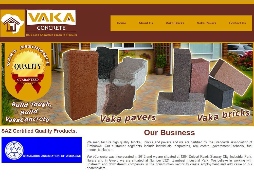 vaka concrete website project