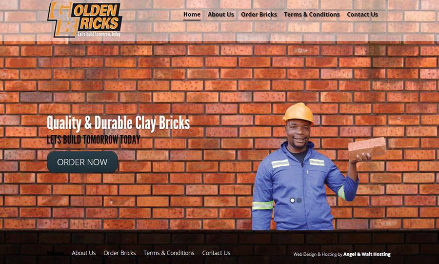 web design project for golden bricks