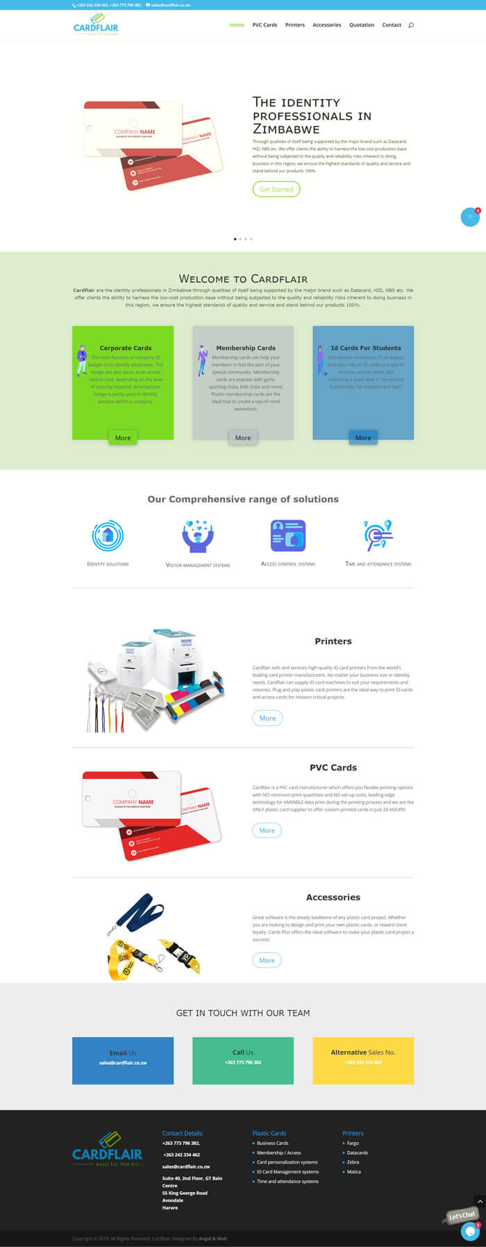 web design project for vaka concrete