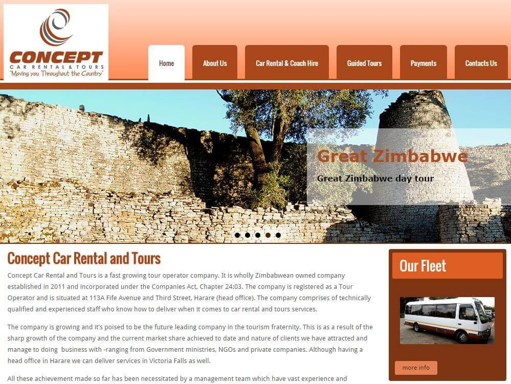 web design project for concept tours