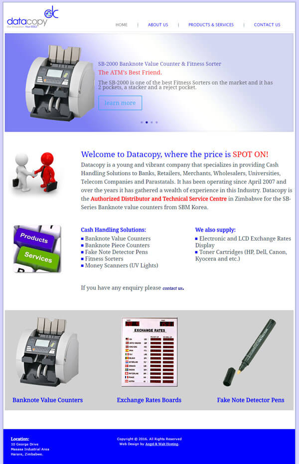 web design project for datacopy