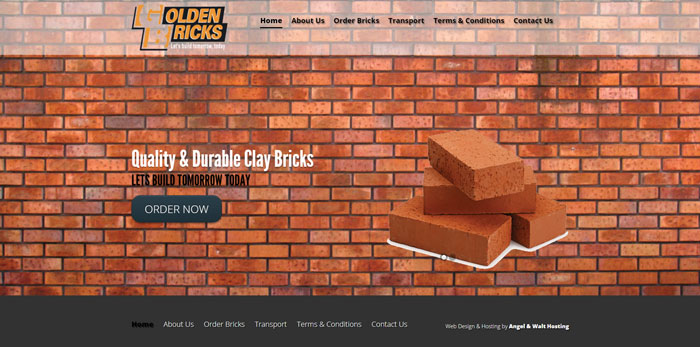 web design project for golden bricks