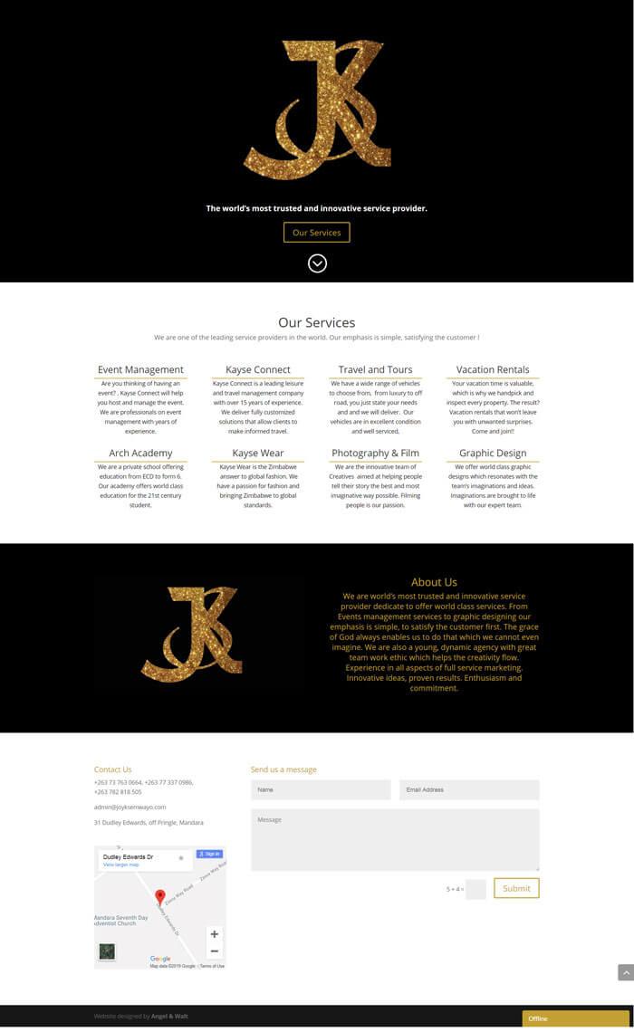 web design project for joyksemwayo