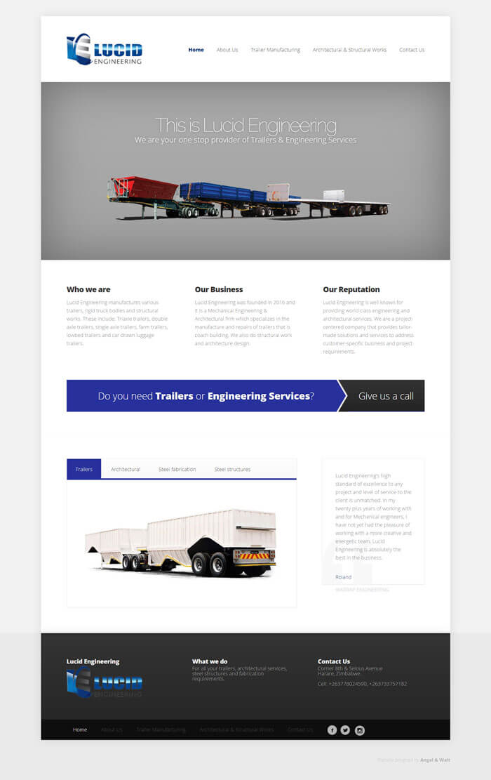 web design project for vaka concrete