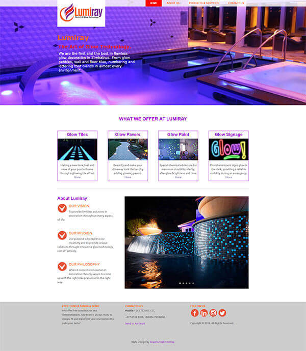 web design project for lumiray